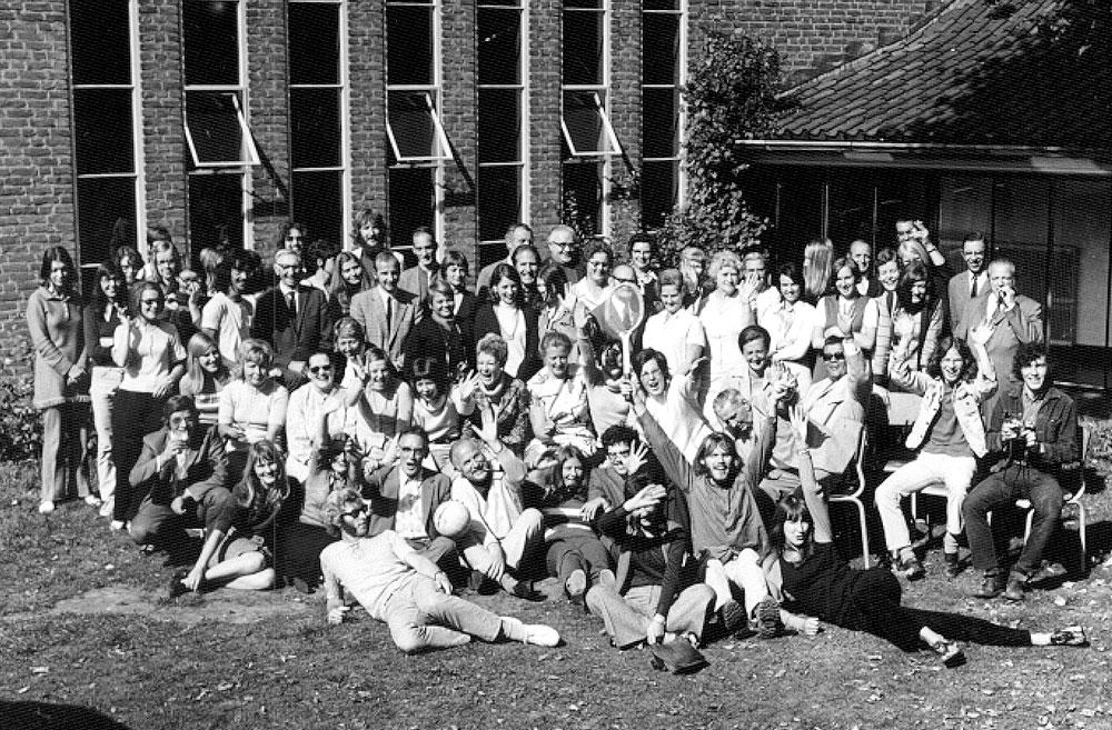 PBC Haarlem groepsfoto Santpoort, zomer 1970