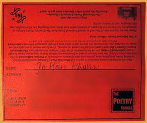 Itinerant Poetry Library, VPL kaart, juni 2013