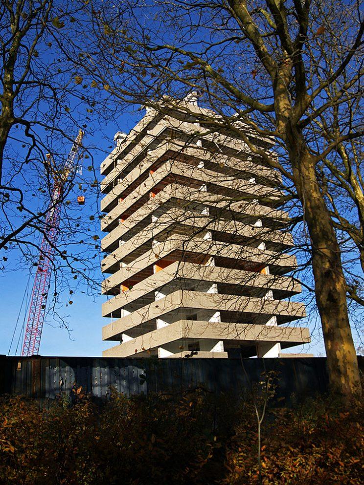 Toren groen, nov. 2013, vanaf Helperlinie