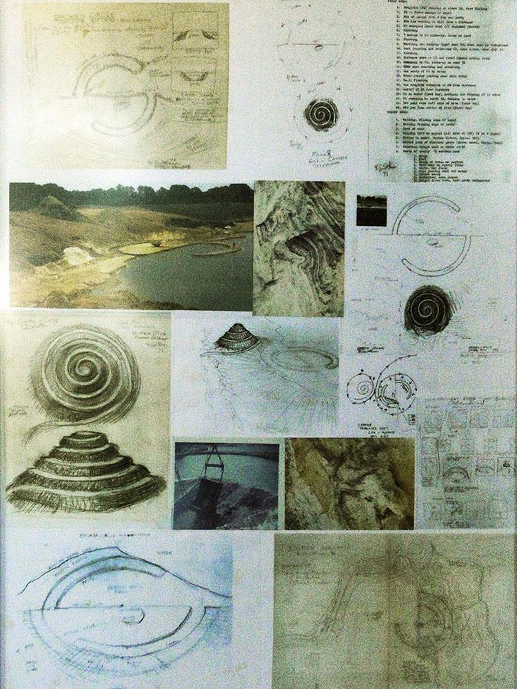 Schetsen van Robert Smithson, expositieruimte BC/SH, 2013