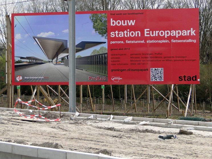 Aanleg station Europapark, apr. 2012
