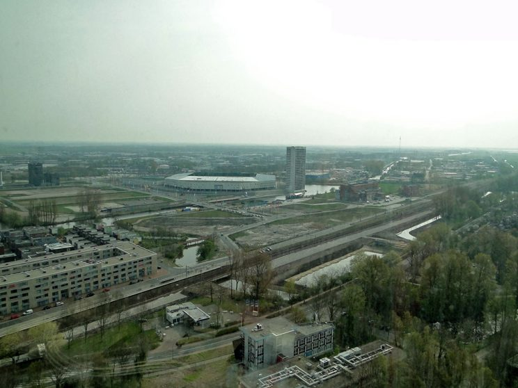 DUO, rondleiding apr. 2011, uitzicht 24e verdieping