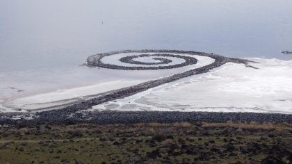 Spiral Jetty bij Rozel Point