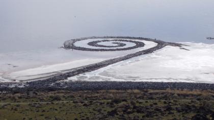 Spiral Jetty bij Rozel Point